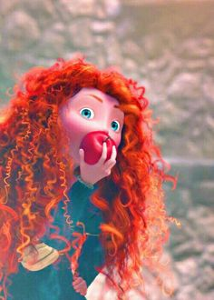 You know how Merida eats apples throughout the film? You know how she is always interrupted before taking more than one bite? You know how Brave is dedicated to Steve Jobs? Just sayin'...