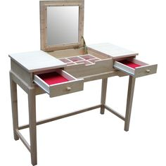 International Concepts Unfinished Vanity Set with Mirror