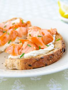 Smoked Salmon Cream Cheese Recipe  If you're looking for a breakfast recipe that's quick and easy for one of those super busy mornings, keep it simple with this smoked salmon and cream cheese breakfast recipe.