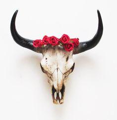 X Large Bison Skull Cow Skull Animal Skull by hodihomedecor
