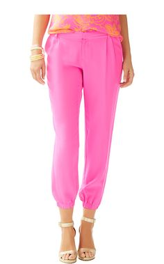 Lilly Pulitzer Solstice Pant in Pop Pink