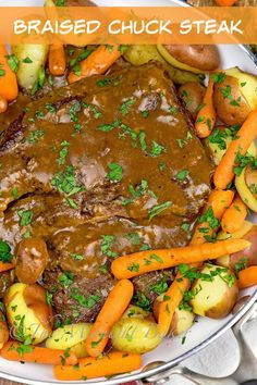 This braised chuck steak is the perfect dinner for the coming cooler evenings - Steak Recipes