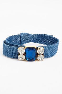 Cara Crystal & Denim Bracelet
