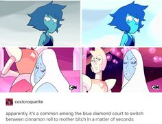 confirmed Lapis was on Blue Diamonds side. XD(but it's true though) Steven Universe Theories, Steven Universe Comic, Universe Art, Blue Diamond Steven Universe, Phineas E Ferb, Bubbline, Lapidot, Cartoon Network, Anime
