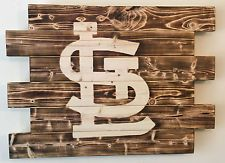 ST LOUIS CARDINALS CHARRED WOOD SIGN 21 X 28 PALLET MAN CAVE CUSTOM MADE