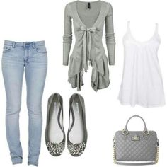Gray Outfit - Love it all.