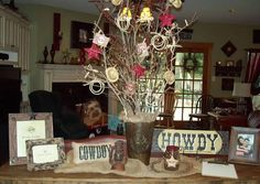 Western Baby Shower Sign In Table