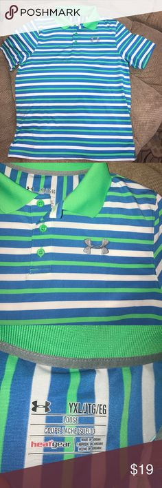 NWOT under Armour youth XL golf shirt Under Armour youth XL golf shirt never worn. Beautiful shirt with vibrant colors Under Armour Shirts & Tops