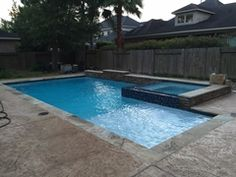 Swimming Pool Raised Wall With Ledger Stone And Concrete