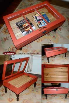 Upcycled Hinged Window Table DIY