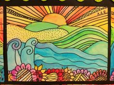 5th grade elementary art - teaching foreground, middle ground and background by olga