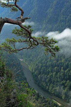 Pieniny Mountains, Carpathian Range, Dunajec River meandering throughout the Slovakian/Polish border