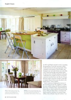 Kitchen from Martin Moore martinmoore.com The English Home September 2014