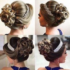 The best ideas of beautiful graduation hairstyles - Photo News - In preparation for the prom at school, every young girl looks for a unique image, including evening - Wedding Hairstyles 2017, Graduation Hairstyles, Bride Hairstyles, Hairstyles 2018, Wedding Hair And Makeup, Bridal Hair, Elegant Hairstyles, Cool Hairstyles, Beautiful Hairstyles
