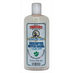 New Product! You Won't Smell It, But You'll Surely Feel It. THAYERS® Alcohol-Free Unscented Witch Hazel with Organic Aloe Vera Formula Toner has all the replenishing, revitalizing magic of our scented varieties, but is undetectable by the nose. • Fragrance-Free • Paraben-Free • Naturally Preserved • Hypoallergenic. 12 oz. bottle