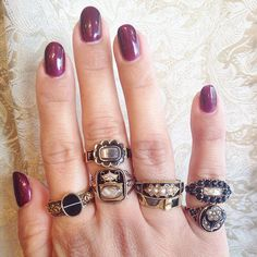 Isadoras Antique Jewelry collection of memento mori antique rings. Beautifully sentimental.