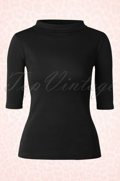 Heart of Haute Black Turtle neck Super Spy Top 113 10 17027 1