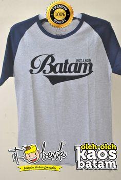Batam Raglan Hitam • Premium Quality • IDR 159000 • Official T-Shirt Merchandise from Batam City
