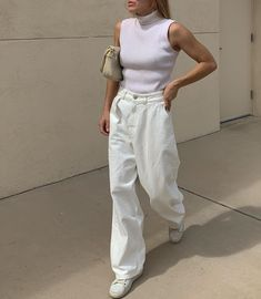 Women Jeans Outfit Crochet Beach Trousers Cheap Jeans For Men Sharara Dress For Girl Smart Casual Party Grey Chequered Trousers Jeans And Heels Outfit – gladiolusrlily Style Outfits, White Outfits, Mode Outfits, Casual Outfits, Fashion Outfits, Fashion Ideas, Fashion Tips, Pretty Outfits, Fashion Beauty