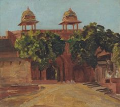 Valentine Cameron Prinsep (1838–1904), View of the Lal Darwaza on the Matwa Road, between the Purana Qila and Old City, Delhi (date not known