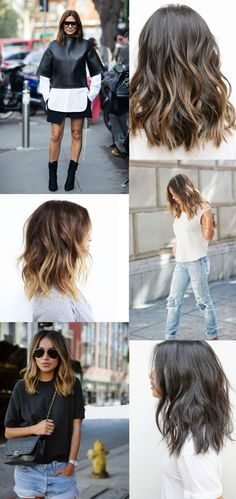 Igår var jeg ved frisøren for at blive klippet og farvet - det viste sig at… Lob Hairstyle, Cool Hairstyles, Summer Hairstyles, Medium Hair Styles, Short Hair Styles, Undone Look, Great Hair, Hair Dos, Hair Hacks