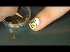 Honeycomb Nail Art Tutorial Using Hexagonal Glitter (Glequins)