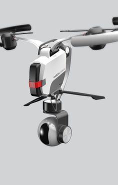 two rotor drone with camera gimbal