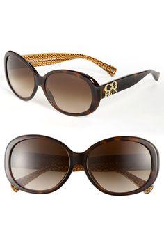COACH Oversized Plastic Sunglasses