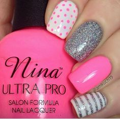 To die for pink and silver nails