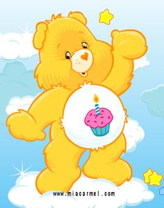Birthday Care Bear  what my tat is gonna be for my lexy cause her first birthday party was care bear theme! and this is birthday bear!