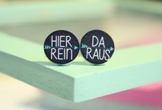 Witzige Statement Ohrringe für Selbstbewusste / funny earrings with quote made by donner-littchen via DaWanda.com