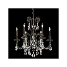 Schonbek Genzano 6 Light Crystal Chandelier Crystal Type: Heritage Clear, Finish: Roman Silver