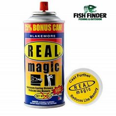 """The Real Magic is a """"clean"""" protectant that lubricates your line for longer casts. The formula reduces line-memory for fewer line related problems. It also contains a UV inhibitor to protect your line and gear from ounce one and the sun's rays. Real Magic also reduces icing on your guides and line. No odor when dry. Non-sticky and non-staining.  Follow us on 🏃🏃👇: 📒Facebook: Fish Finder - fishing and outdoors 📸Instagram: fishfindersuriname 📞42 5557  #fish #fishfinders #fishfinder…"""