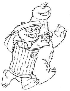 Sesame Street - 999 Coloring Pages | Coloring Pages | Pinterest ...