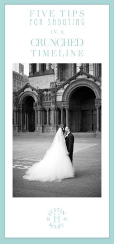 Wedding Photography Tips - Shooting in a crunched timeline