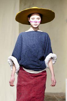 Daniela Gregis at Milan Fashion Week Fall 2013 - Runway Photos Fashion Colours, Love Fashion, Fashion Outfits, Womens Fashion, Milan Fashion, Indigo, Collar Designs, Clothing And Textile, Japanese Fashion