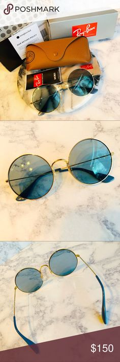45843bb8e67 🕶Brand New Ray-Ban Ja-Jo Blue   Gold RB3592 Brand New Authentic