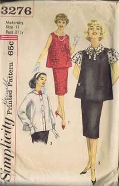 """Simplicity Pattern  Pattern Number 3276  Copyright: 1950's  SIZE 11 BUST 31.5 WAIST 24.5 HIP 33"""""""