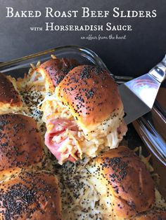 These roast beef sliders are slightly spicy and extremely cheesy! Prepare them ahead of time, and bake them when you are ready to eat! Great for parties and tailgating!