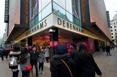 Debenhams share up 17% after bumper online sales over Christmas