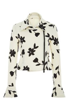 Wool Motorcycle Jacket by CAROLINA HERRERA for Preorder on Moda Operandi