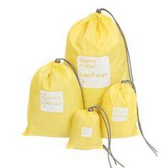 FackFace® Set 4pcs Sac de Rangement Imperméable Baril Organisateur Stockage Portable Trousse de Toilette Pochette Avec Cordon Pour…