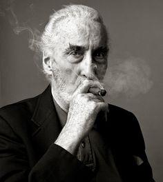 ♂ Black & white Man portrait Christopher Lee