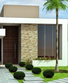 House Front Design, Small House Design, Modern House Design, Door Design, Modern Bungalow House, Architectural House Plans, My House Plans, Dream House Exterior, Facade House
