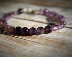February Warmth-Amethyst Bracelet. Amethyst Jewelry. Beaded Bracelet. Sterling Silver Bracelet. Birthstone Bracelet. February Jewelry - Edit Listing - Etsy