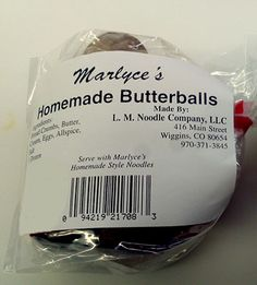 L.M. Noodles recalls Marlyce's Butterballs