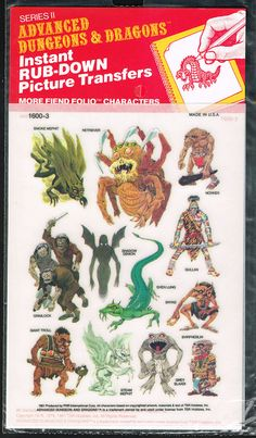 Advanced Dungeons and Dragons Picture Transfers (More Fiend Folio Characters)  Series 2 - 01, 1981 by Aeron Alfrey, via Flickr