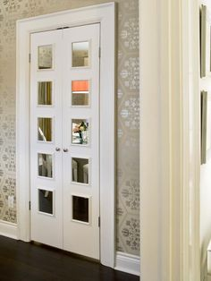 Make spaces appear larger with mirrored closet doors.