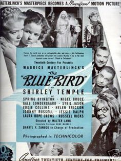 """the """"bluebird"""" 1940... <3 this was my favorite Shirley Temple Movie"""