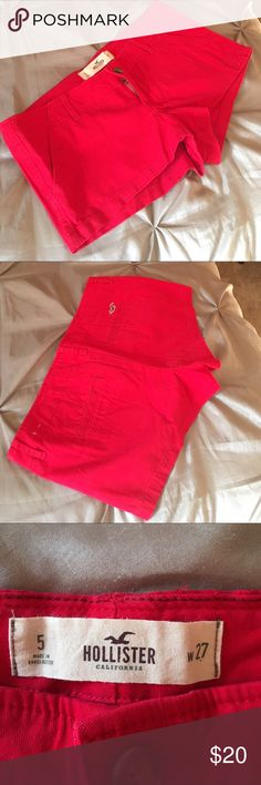 Nearly New HOLLISTER Shorty Shorts. This is a one time wear, nearly new pair of HOLLISTER shorty shorts.  No stains, rips or any damage.  They are cute and fun for Spring/Summer wear. Hollister Shorts